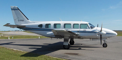 Piper PA-31 Chieftain for private flights (VIP) from the El Catey Samaná airport