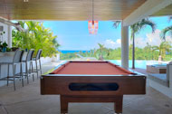 Outdoor living, bar, billiard and terrace, Casa Phil, luxury rental in Las Terrenas
