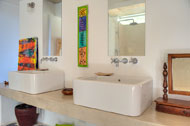 Bathroom sink of the first bedroom, Casa Phil, luxury rental in Las Terrenas