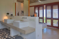 Bathroom, shower of the fourth bedroom, Casa Phil, luxury rental in Las Terrenas