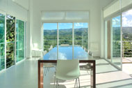 Dining room with view to the loma, Villa White Sand, Las Terrenas