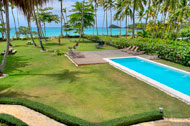 Exterior view, the swimming pool, Las Olas Residence, luxury rental in Las Terrenas