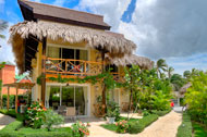 Exterior view of the terrace, Las Olas Residence, luxury rental in Las Terrenas