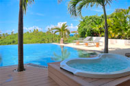Exterior, jacuzzi, swimming pool and terrace, Casa Phil, luxury rental in Las Terrenas