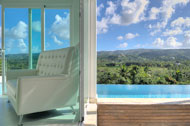 Interior exterior swimming pool and living room, Villa White Sand, Las Terrenas