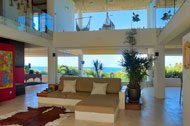 Living room, second and third floor, Casa Phil, luxury rental in Las Terrenas