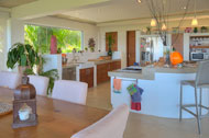 Dining room and kitchen, Casa Phil, luxury rental in Las Terrenas