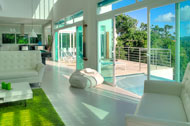Living room terrace and swimming pool, Villa White Sand, Las Terrenas