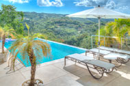 Outdoor view of the swimming pool,  3 Palmas Villa, Cosón, Las Terrenas