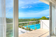 Exceptional view of the sea from the terrace, main bedroom,  3 Palmas Villa, Cosón, Las Terrenas