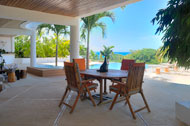 Roofed outdoor dining and terrace, Casa Phil, luxury rental in Las Terrenas