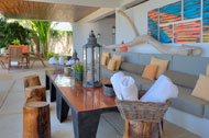 Roofed outdoor living, Casa Phil, luxury rental in Las Terrenas