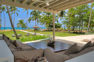Living room exterior with sea view, Villa Ocean Lodge, Los Nomadas, beachfront