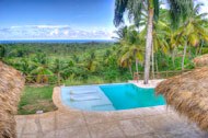 View from the Master Suite of the Villa Cocoloba at Portillo, Las Terrenas
