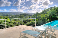 Terrace with view to the loma and Golf, Villa White Sand, Las Terrenas