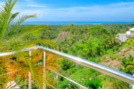 Exceptional view of the sea from the terraces,  3 Palmas Villa, Cosón, Las Terrenas