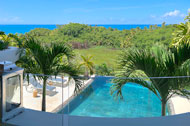 Sea view and pool from the second floor, Casa Phil, luxury rental in Las Terrenas