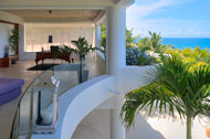Ocean views and living room from the second floor, Casa Phil, luxury rental in Las Terrenas