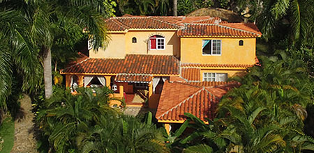 Aerial view of the House, Las Terrenas
